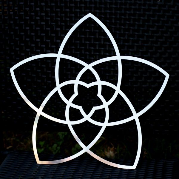 Venusblume Wandschmuck aus Edelstahl